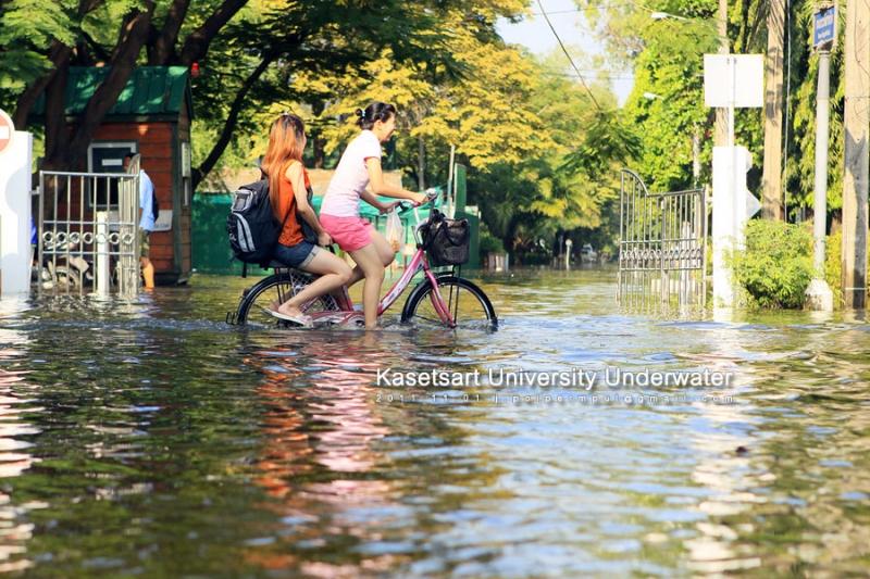 ปั่นจักรยาน(น้ำ)เพื่อไปทำงาน