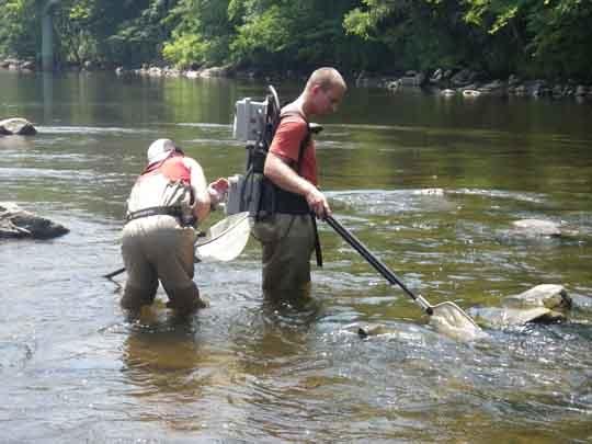 ก่อนทำการช๊อตก็ปรับระดับวัตต์และโวลต์ก่อน โดยดูจากชนิดปลา และค่่าการนำไฟฟ้าของแหล่งน้ำ