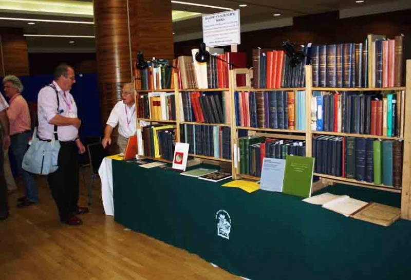 This booth have old fossil books, some from over 100 ys.